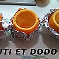 Gâteaux au chocolat en coque orange