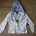 Abbey Dawn for Alice In Wonderland Pin-Striped Hooded Boyfriend