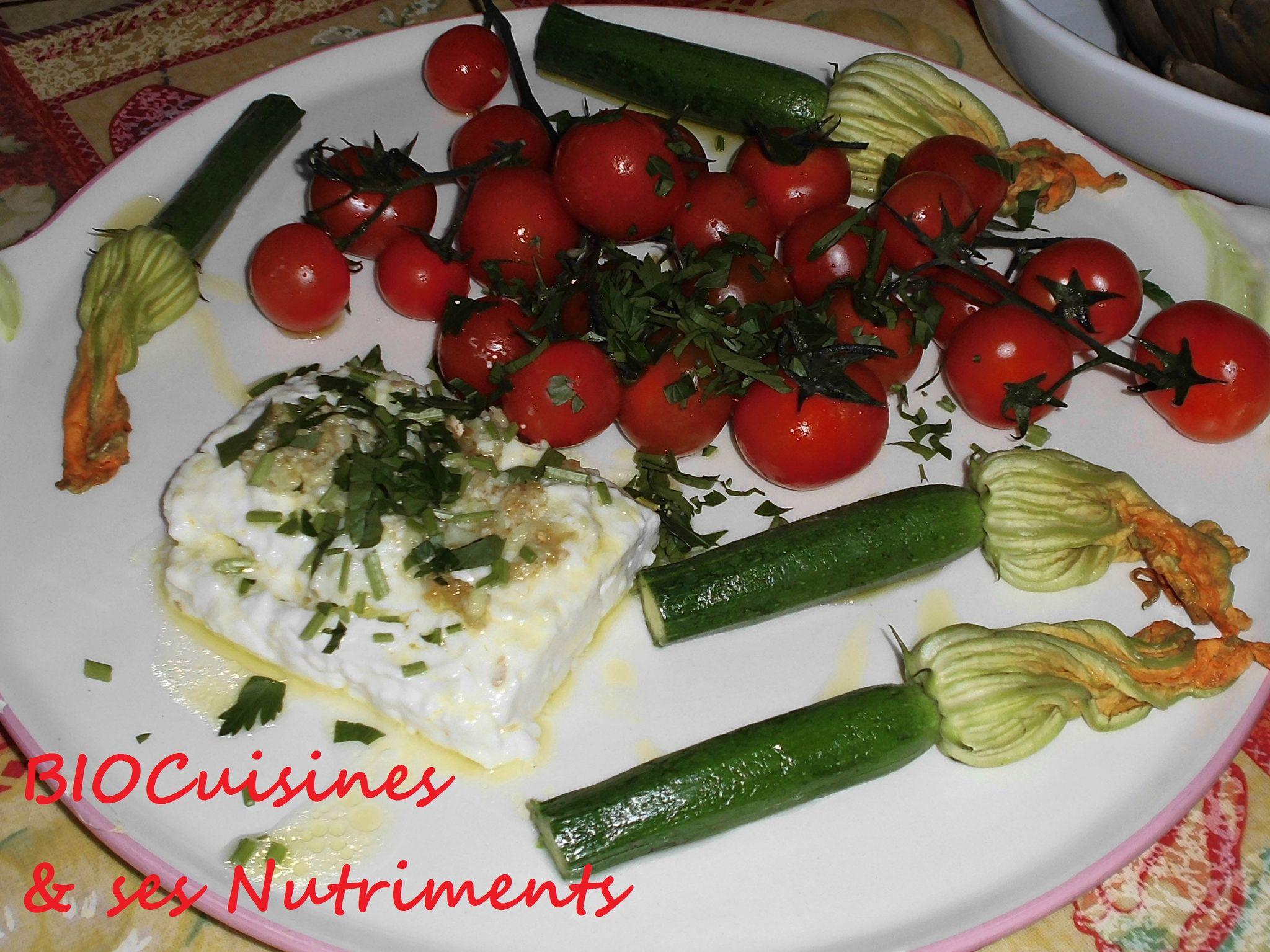 tomate courgette feta