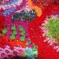 3 ) pulls en freeform crochet
