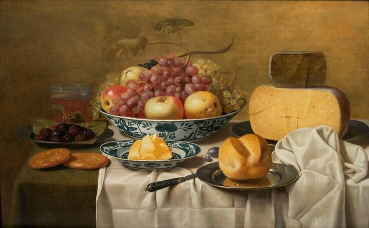 Floris van Schooten (1605 - Haarlem 1656), A Still-Life of Fruit and Cheese