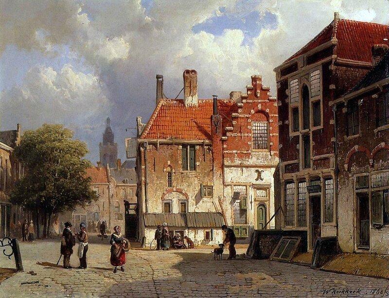 Willem Koekkoek - Town Square