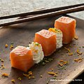 Cubes de saumon façon gravlax et chantilly à la verveine