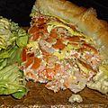 Tarte brick saumon fumé et crevettes