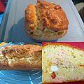 Cake au yaourt , saumon,feta et tomates séchées