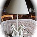Une lampe de chevet anges