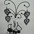 Boucles d'oreilles brodées dentelle noire amd a coudre (2)