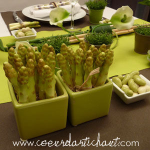 D co de table th me potager chic par le jardin des oliviers en d photo de 2 un diner presque for Idee deco theme jardin