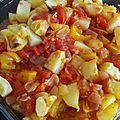 Cabillaud et pommes de terre épicées au four