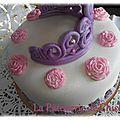 Gâteau de princesse, arc en ciel