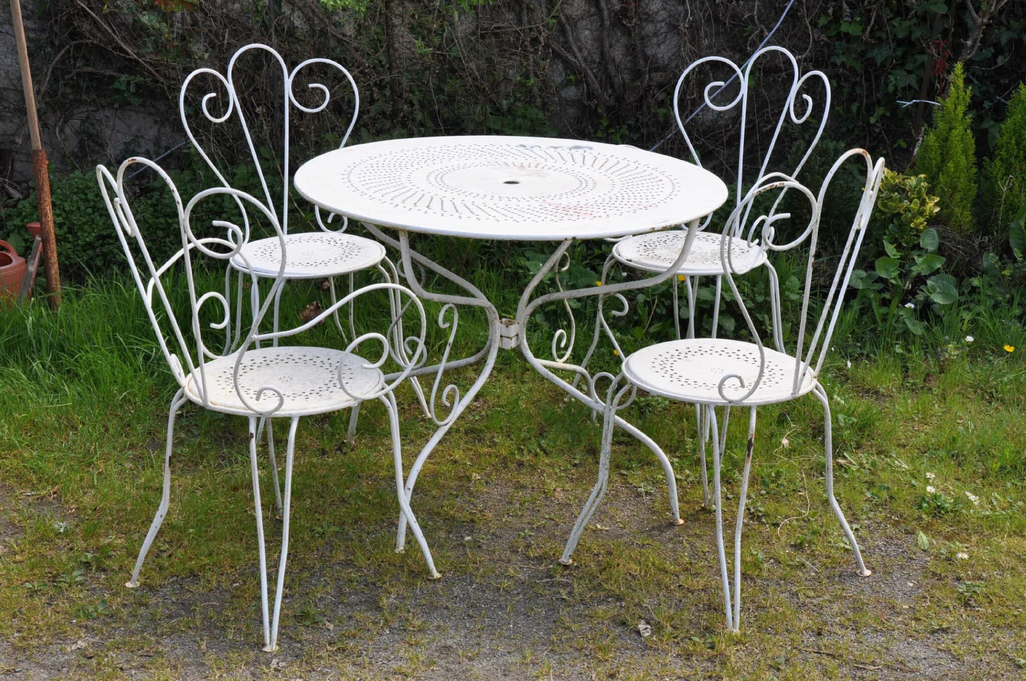 Salon jardin metal for Salon de jardin metal