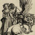 Albrecht Dürer - A Coat of Arms with a Skull