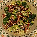Salade de brocoli, bacon & cranberry