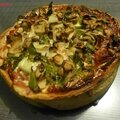 Deep dish pizza (chicago style pizza)