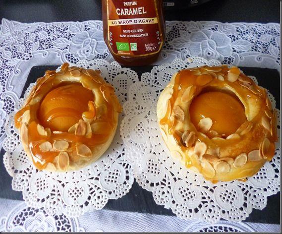 Brioches a l'abricot&caramel&Amande effilées (Gouter)