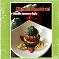 Mille feuilles de légumes du soleil & son crumble lupin parmesan (concours lidl sbc paris du 11 avril 2015)