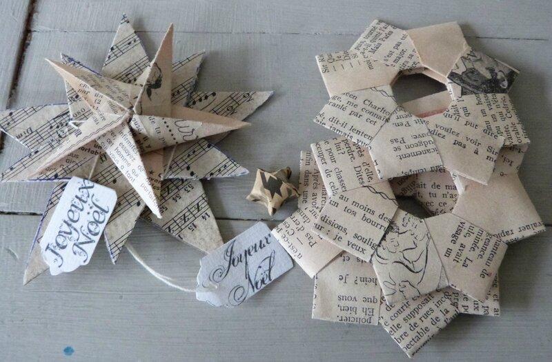 Etoiles et guirlandes Origami