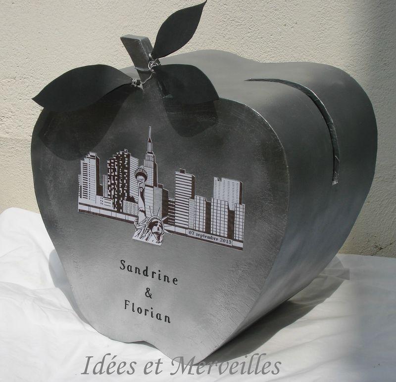urne de mariage th me new york idees et merveilles. Black Bedroom Furniture Sets. Home Design Ideas