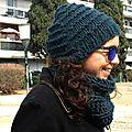 Col et bonnet chunky : parce que c'est encore l'hiver !