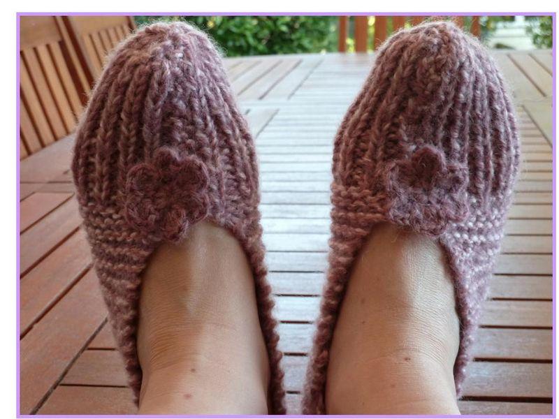 comment tricoter des chaussons pour adultes