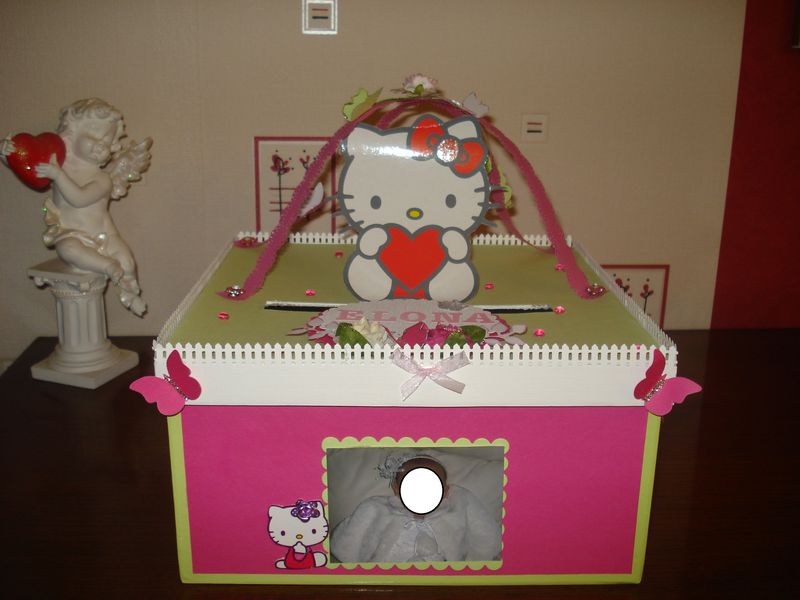 Urne hello kitty perle de scrap for Idee deco urne bapteme