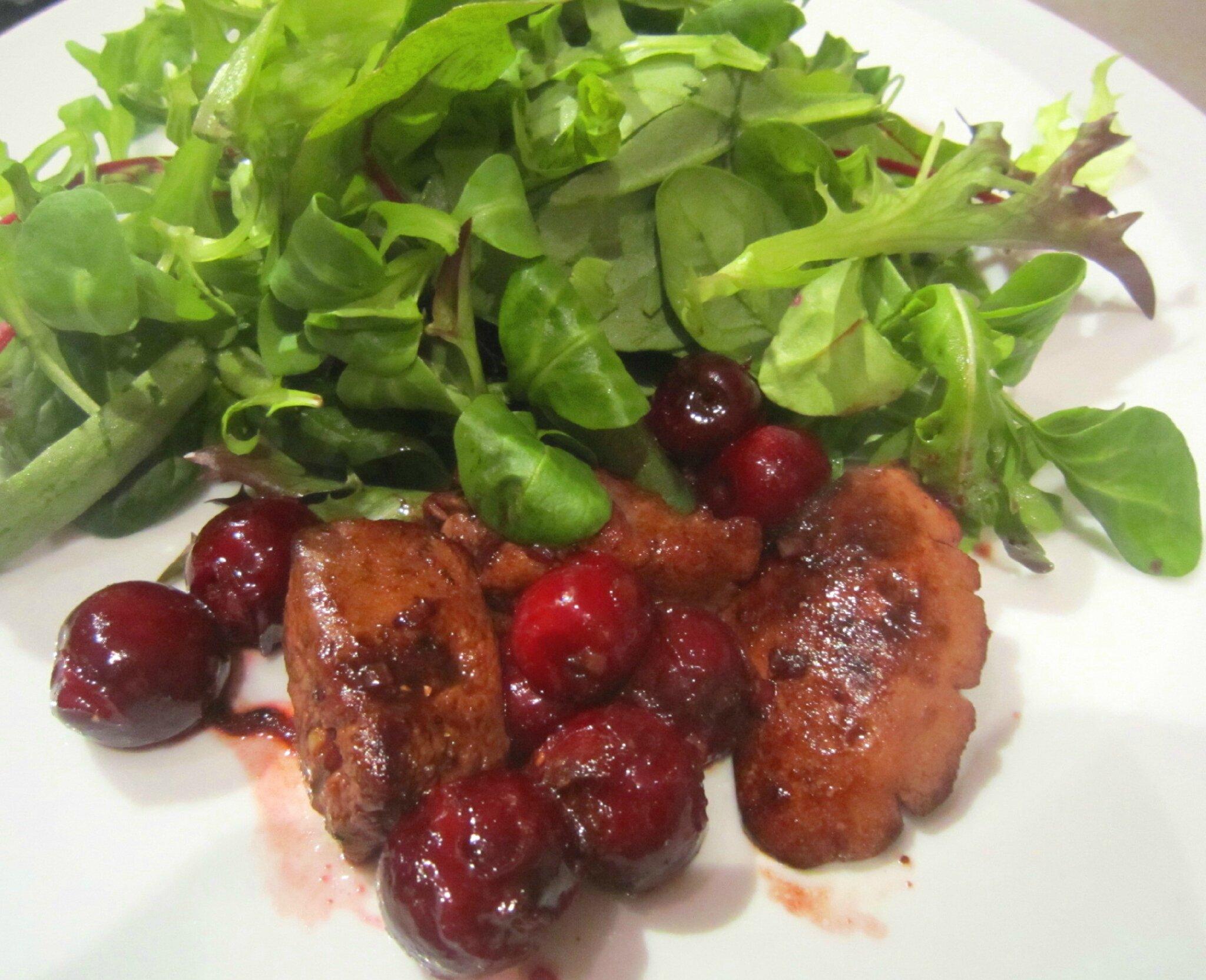 salade de foie de volaille aux griottes