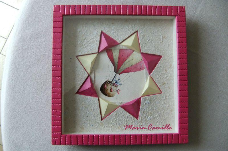 l 39 origami en encadrement au fil des envies des id es de marie camille. Black Bedroom Furniture Sets. Home Design Ideas