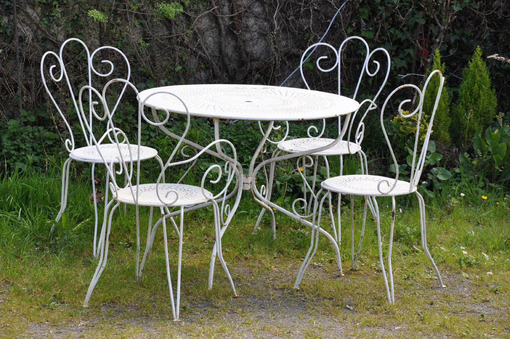 Salon de jardin table ronde fer forge - Salon jardin fer forge pas cher ...