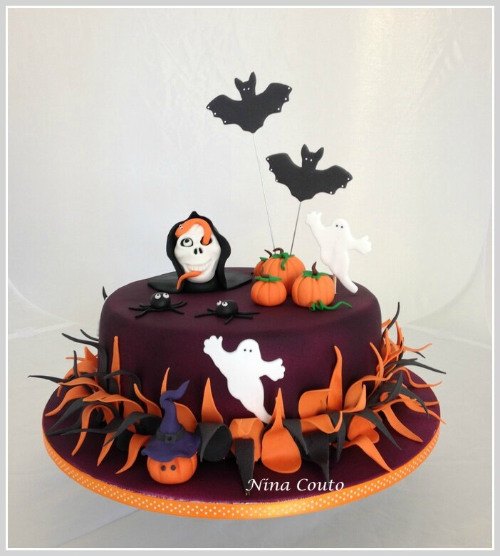 G teau halloween n mes atelier des gourmandises for Idee deco gateau halloween