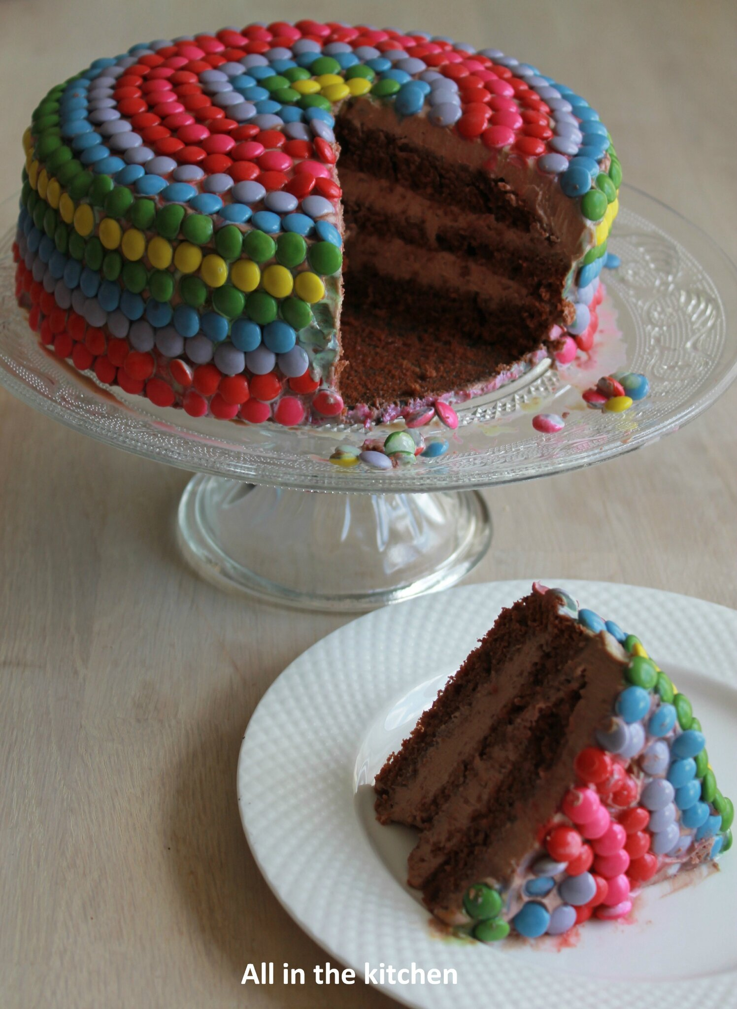 Layer cake tout chocolat all in the kitchen etc - Moule a layer cake ...