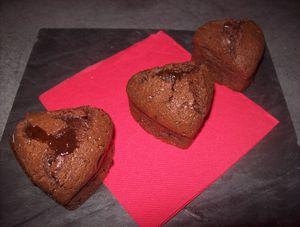 coeur coulant au coeur de chocolat noir