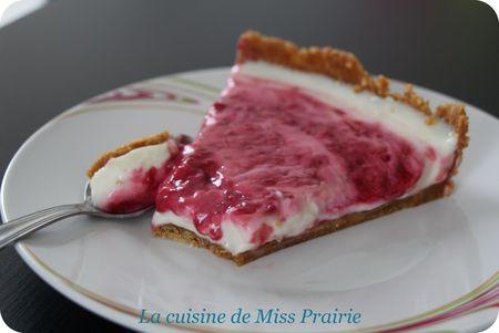 Tarte citron-framboise façon cheesecake