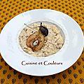 Kkvkvk # 58 : risotto à la fourme de st flour et aux poires