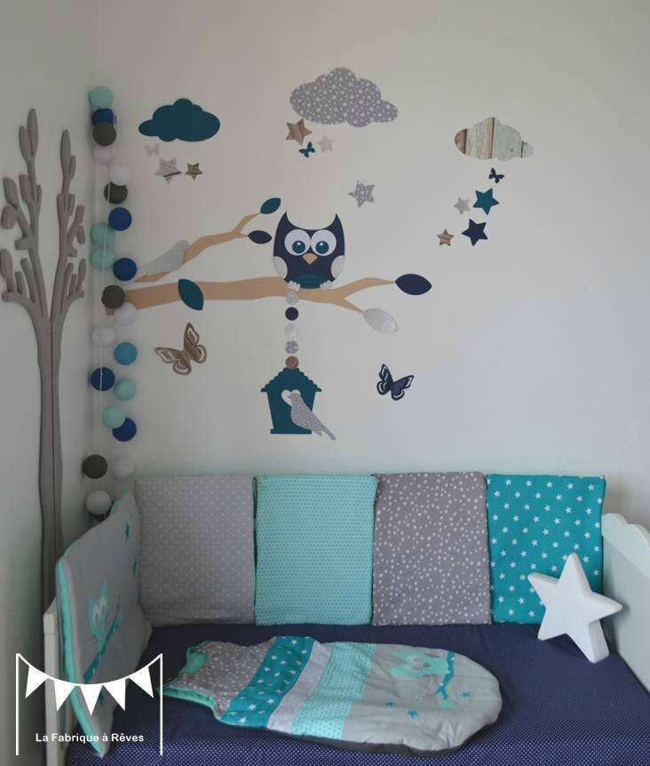D coration chambre bebe hibou for Photo decoration chambre bebe fille