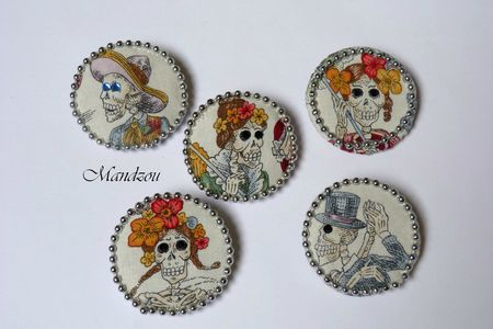 Maracas broche rondes 02