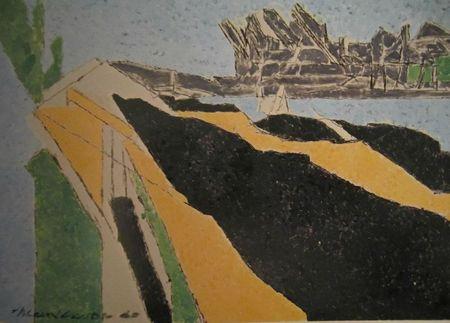 Les grues près de Rouen 1960