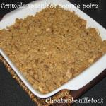 crumble speculoos pomme poire
