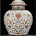 Sotheby's to bring a rare, newly discovered imperial chinese jar to auction at the fine chinese ceramics and works 0f art sale,