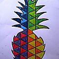 Comment dessiner un ananas en losanges