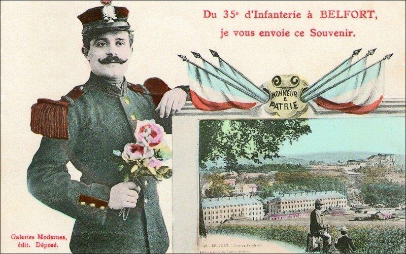 CPA Belfort Souvenir 35ème RI