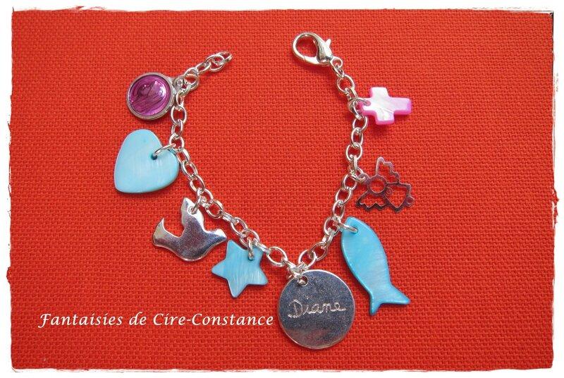 bracelet personnalisé pour une filleule recto