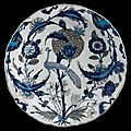 "Peacock dish. turkey, ""iznik"", c. 1550."