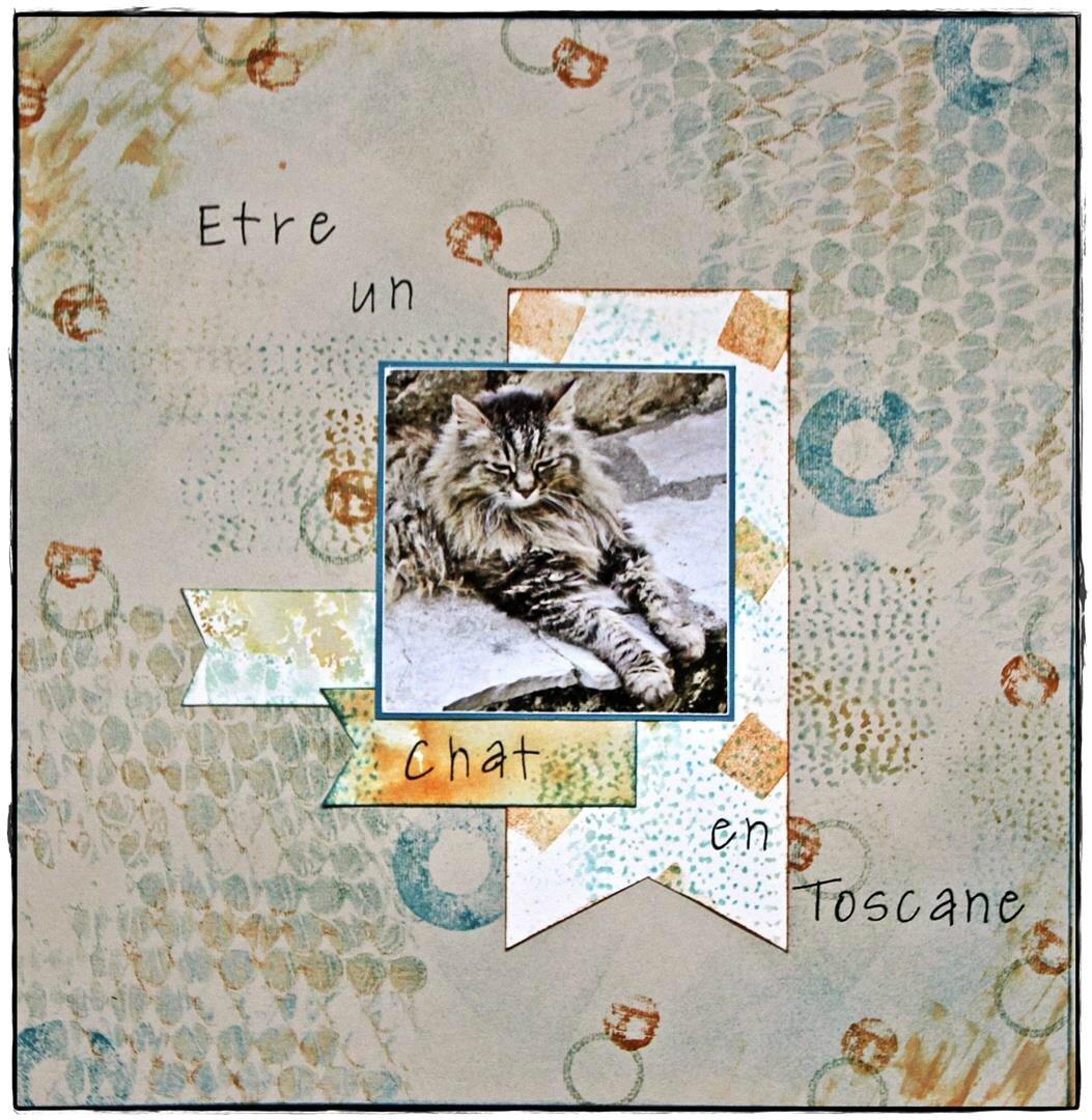 Etre un chat en Toscane.