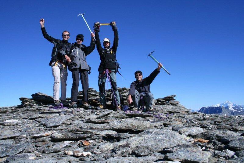 Avec Philippe et Jean-Michel à 3300m (Les Sonailles)