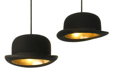 lampe chapeau melon boutique les fleurs le blog. Black Bedroom Furniture Sets. Home Design Ideas