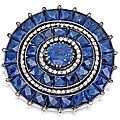 Gold, silver, sapphire and diamond brooch - sotheby's