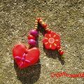 Grigri Coeur pour Haïti (fimo et perles en fimo et en bois))