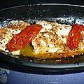 Papillote de saumon aux tomates confites