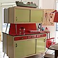 Buffet Cuisine Formica Rouge