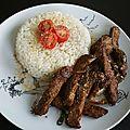 Cuisine: boeuf aux oignons veggie